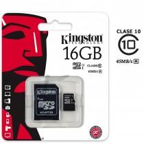 Memoria microSD KINGSTON 16 Gb clase 10