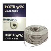 Cable red UTP cat5e KELYX  bobina x 305 mts interior