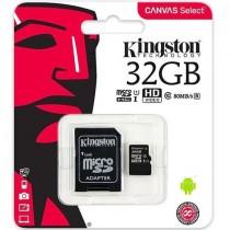 Memoria MicroSD 32GB Clase 10 Kingston UHS-I 80mb/s Canvas