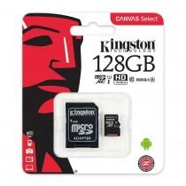 Memoria MicroSD 128GB Kingston Clase 10 80MB/s